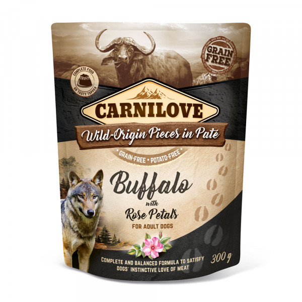 Carnilove Nassfutter Pate Buffalo with Rose Petals 300g