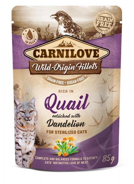 Carnilove Cat Pouch Quail with Dandelion 85g