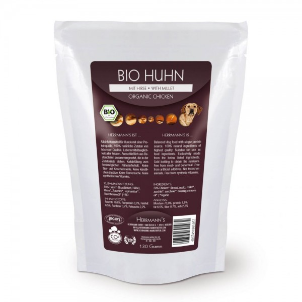 Herrmanns Bio Huhn Menü mit Hirse 130g
