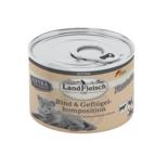 Landfleisch Cat Kitten Pastete Rind mit Geflügelkomposition 100g