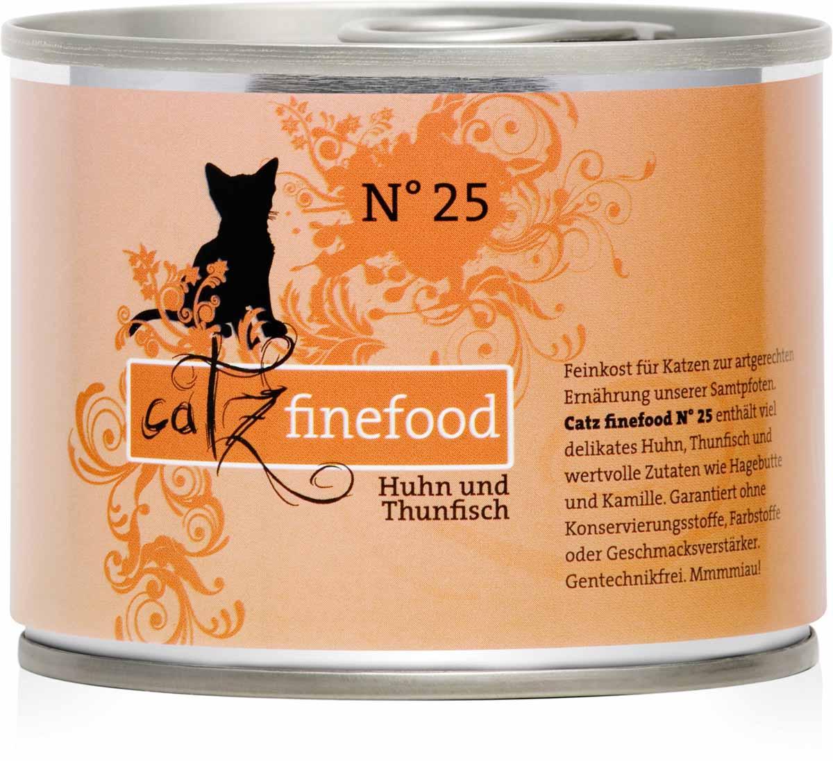 catz finefood no 25 huhn und thunfisch 200g katzenfutter nass katze futtershop24. Black Bedroom Furniture Sets. Home Design Ideas
