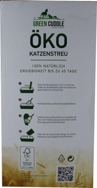 Green Cuddle Öko-Katzenstreu 10L (6,3kg Karton)
