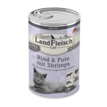 Landfleisch Cat Adult Pastete Rind, Pute und Shrimp 400g MHD: 18.10.2021