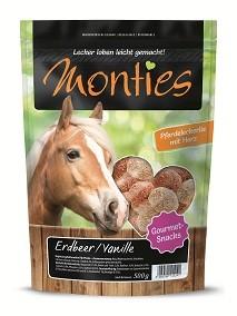 Monties Pferde Snack - Erdbeer & Vanille