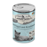Landfleisch Cat Adult Topf Geflügel & Krabben 400g