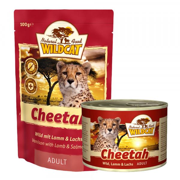 Wildcat Katzenfutter Cheetah mit Wild, Lamm und Lachs 100g Pouch