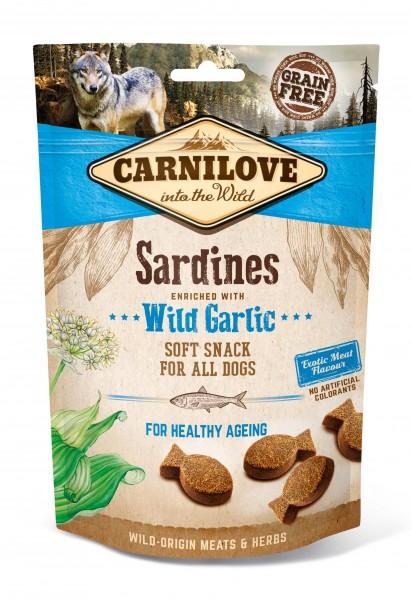 Carnilove Soft Snack Sardines with Wildgarlic 200g