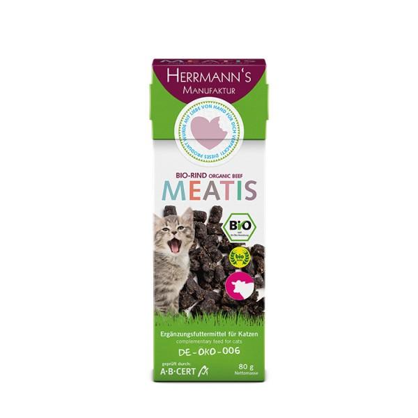 Herrmanns Selection Meatis Bio Rind 80g für Katzen