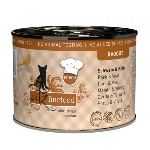 catz finefood Ragout N° 609 Schwein & Kalb 190g
