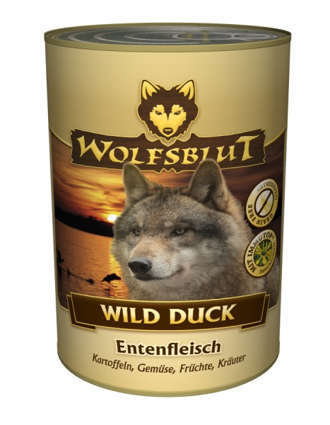 wolfsblut nassfutter wild duck mit ente und kartoffeln. Black Bedroom Furniture Sets. Home Design Ideas
