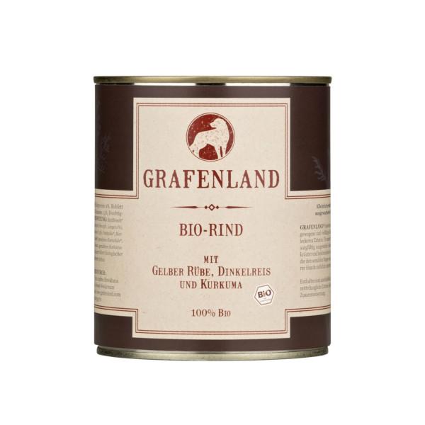 Grafenland Bio Rind mit Gelber Rübe, Dinkelreis und Kurkuma