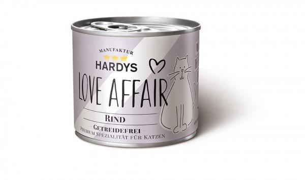Hardys Traum Katzenfutter Love Affair mit Rind getreidefrei