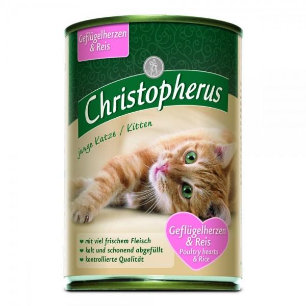 Christopherus junge Katze Geflügelherzen & Reis