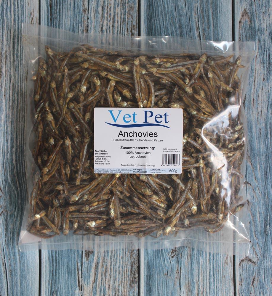 anchovies trockenfisch f r hunde und katzen futtershop24. Black Bedroom Furniture Sets. Home Design Ideas