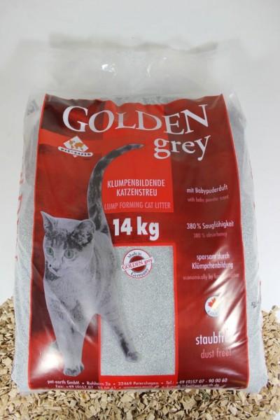 Golden Grey Katzenstreu mit Babypuderduft 14kg