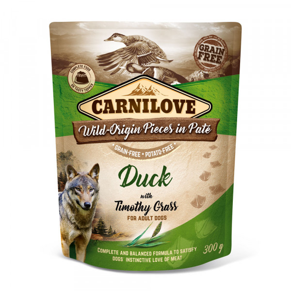 Carnilove Nassfutter Pate Duck with Timothy Grass 300g