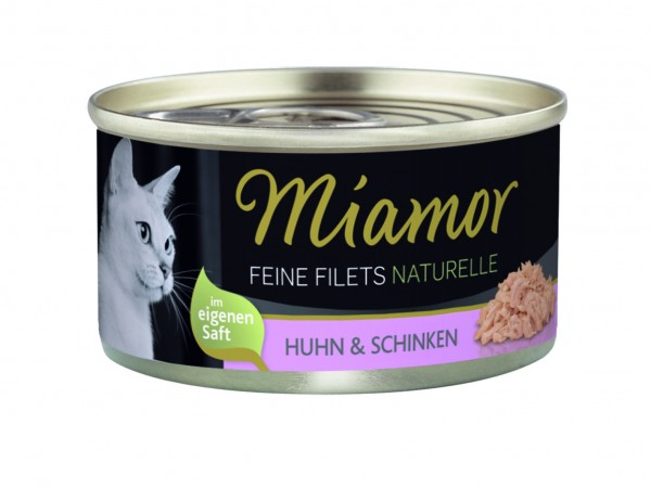 Miamor Feine Filets Naturelle Huhn & Schinken 80g